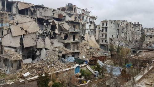 Zniszczenia w dzielnicy Midan / Destruction in Midan area