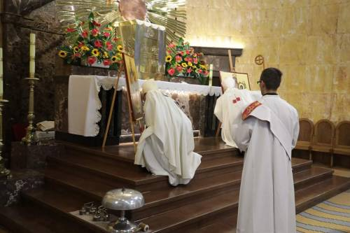 Poświęcenie ikon / Icons were baptized before departure by bishop G. Ryś