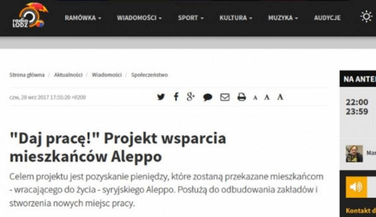 O projekcie Daj pracę w Radiu Łódź